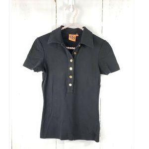 Tory Burch Pima Cotton Short Sleeve Polo Shirt